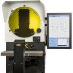 Projecteur de profil horizontal ecran de 400 mm avec calculateur